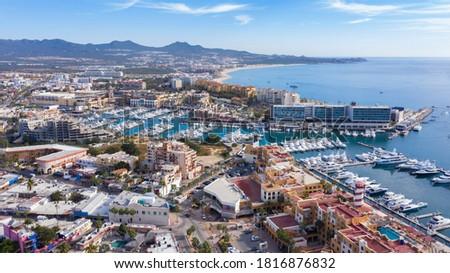 Aerial view of downtown Cabo San Lucas, Baja California Sur, Mexico. Stockfoto ©