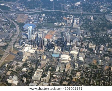 Aerial view of downtown Charlotte, North Carolina, USA