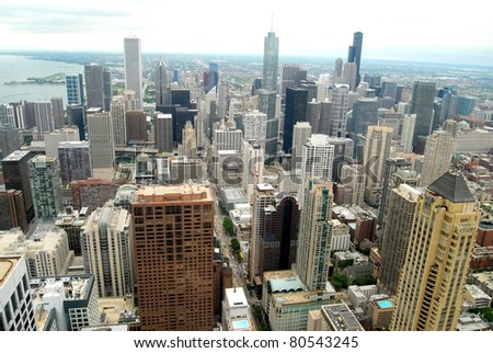 Aerial View of Downtown Chicago, Illinois