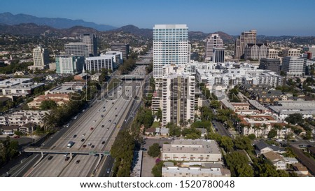 Aerial view of downtown Glendale, California. #1520780048