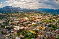 Aerial View of Durango, Colorado in Summer