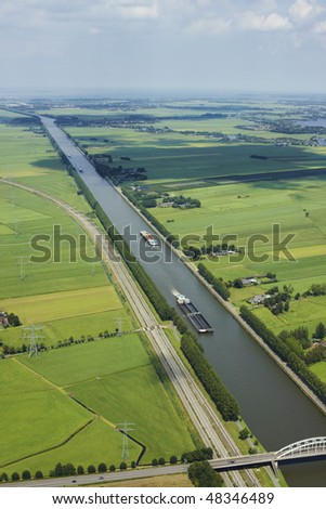 Aerial view of Dutch channel