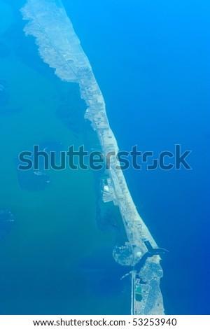 aerial view of egypt coastline