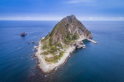 Aerial view of famous Keelung Islet near Keelung city, Taiwan.