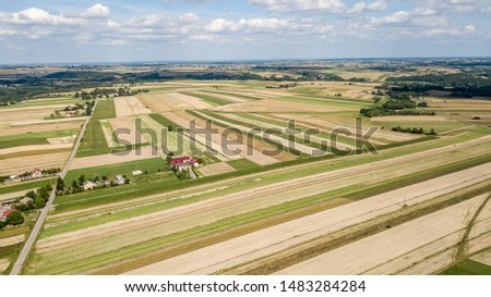 Aerial view of farmlands – agriculture concept