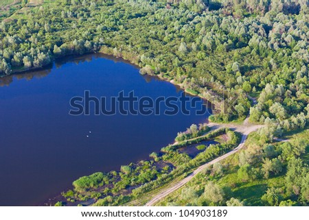aerial view of forest landscape