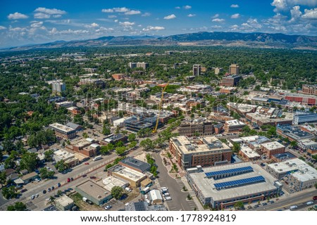 Aerial View of Fort Collins, Colorado during Summer Сток-фото ©