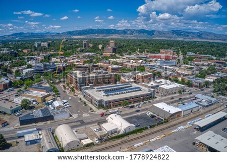 Aerial View of Fort Collins, Colorado during Summer Photo stock ©