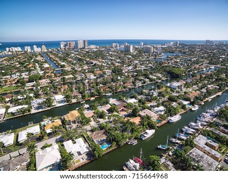Shutterstock Aerial view of Fort Lauderdale Las Olas Isles, Florida, USA