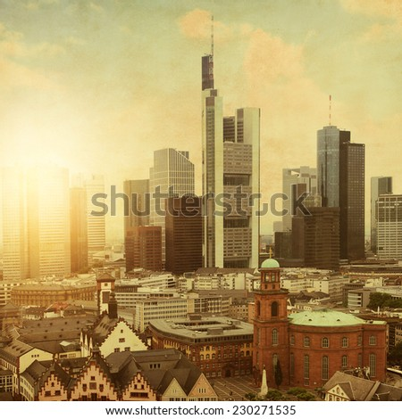 aerial view of frankfurt at...