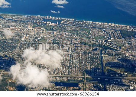 Aerial view of Ft. Lauderdale in Florida