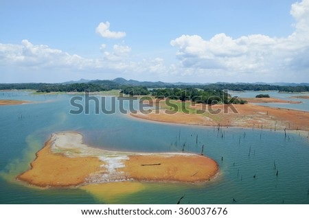 Shutterstock Aerial view of Gatun Lake, Panama Canal on the Atlantic side