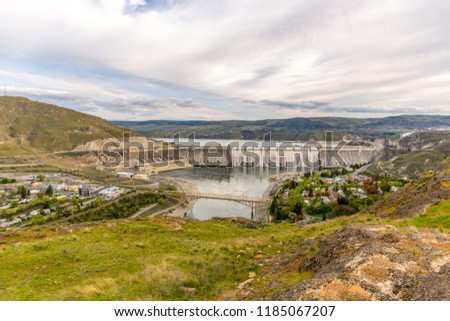 Aerial View of Grand Coulee Dam, Washington-USA