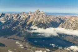 Aerial view of Grand Teton National Park, Wyoming, USA.