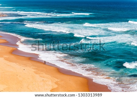 aerial view of Great Ocean Road in Melbourne Australia #1303313989
