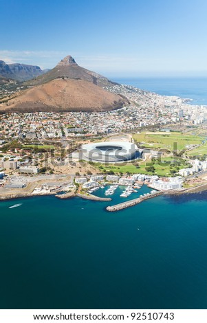 aerial view of green point stadium Cape Town, South Africa