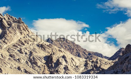 aerial view of high  mountain...