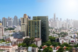 Aerial view of high Residential in Bangkok, Thailand