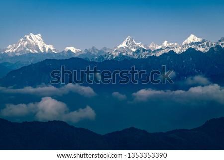 Aerial view of Himalaya.  #1353353390