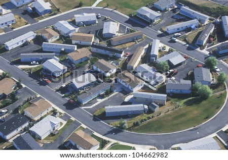 Aerial view of housing development, Pullman, WA