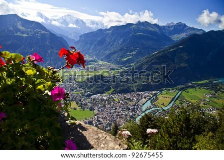 Aerial view of Interlaken, Switzerland