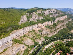 Aerial view of Iskar river Gorge, Balkan Mountains, Bulgaria