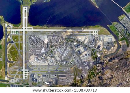 Aerial view of John F. Kennedy International Airport   Stock fotó ©