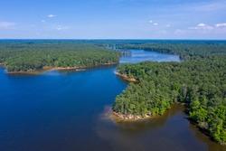 Aerial view of Jordan Lake at North Carolina State Park