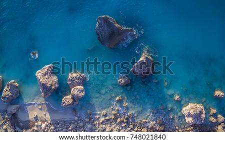 aerial view of kalamitsi beach  ...