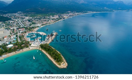 Aerial view of Kemer in Antalya Turkey Stok fotoğraf ©