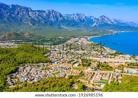 Aerial view of Kemer town. Antalya province, Turkey Stok fotoğraf ©