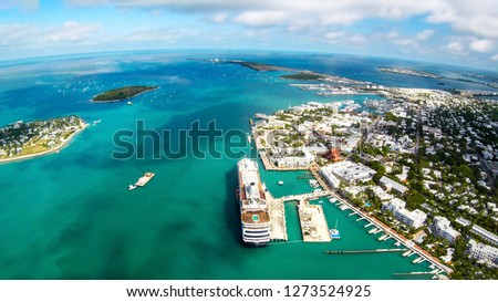 Aerial view of Key West in Florida #1273524925