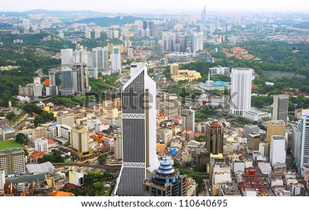 Aerial view of Kuala Lumpur from Kuala Lumpur Tower