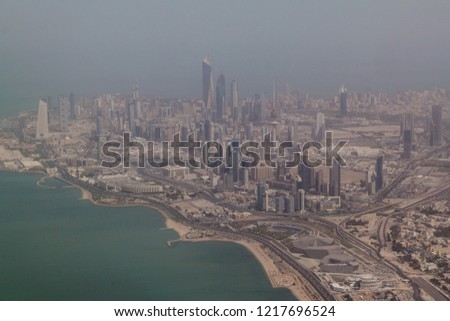 Aerial view of Kuwait city #1217696524