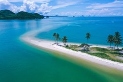 Aerial view of Laem Had Beach in Koh Yao Yai, island in the andaman sea between Phuket and Krabi Thailand