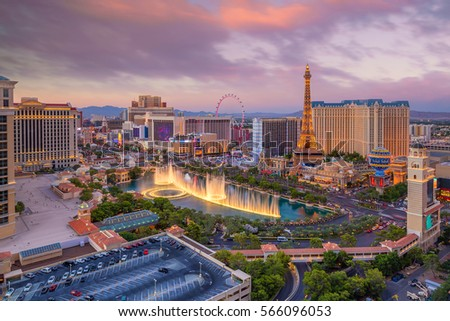 Shutterstock Aerial view of Las Vegas strip in Nevada as seen at night  USA