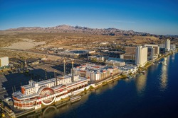 Aerial View of Laughlin, Nevada on the Colorado River