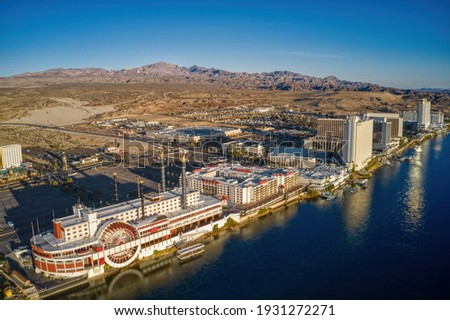Aerial View of Laughlin, Nevada on the Colorado River Stock fotó ©