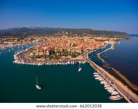 Aerial view of Lefkada town #662012038