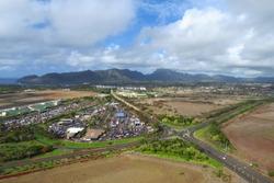 Aerial view of Lihue, Kauai, Hawaii