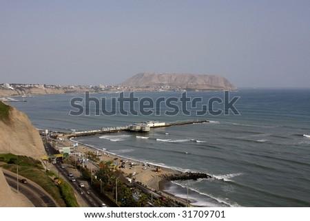 aerial view of Lima, Peru - stock photo