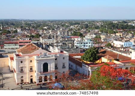 Shutterstock Aerial view of main square in Santa Clara, Cuba.