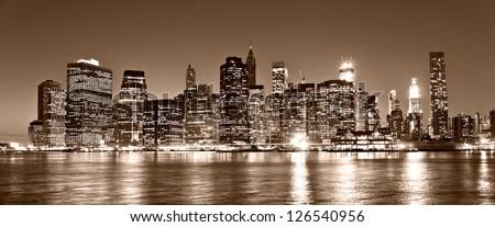 Aerial view of Manhattan, New York City. USA. #126540956