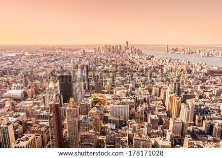 Aerial view of Manhattan, New York City. USA. #178171028