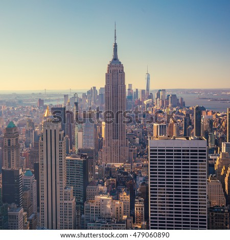 aerial view of manhattan...
