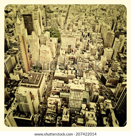 aerial view of manhattan with...