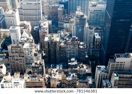 Aerial View of Midtown Manhattan, New York City #781546381