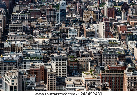Aerial view of Midtown of Manhattan. #1248459439