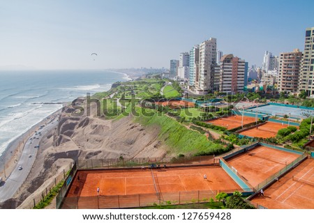 Aerial view of Miraflores Park, Lima - Peru