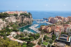 Aerial view of Monaco, Wurope